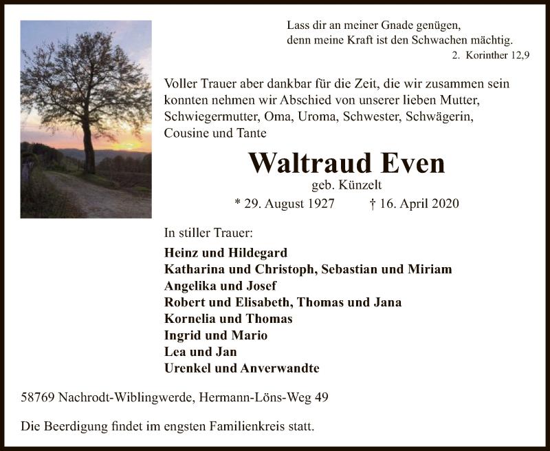 Waltraud-Even