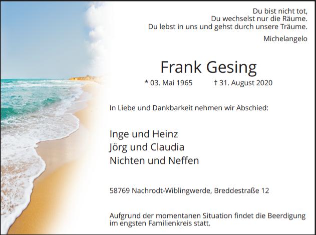 Frank Gesing