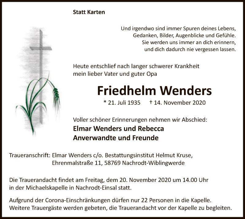 Wenders Friedhelm