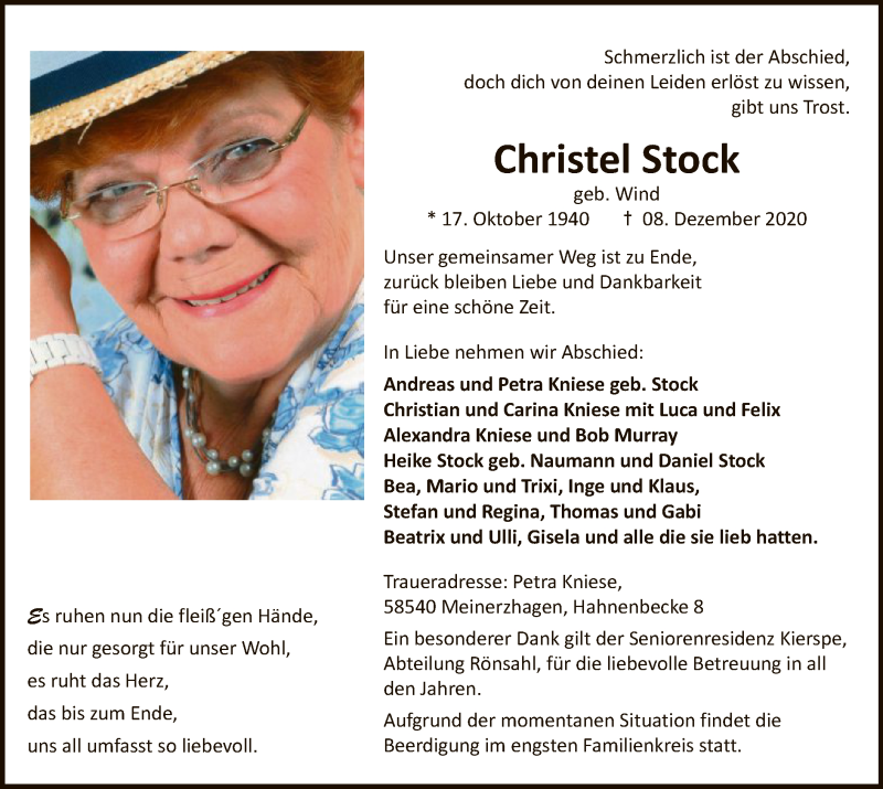 Christel-Stock