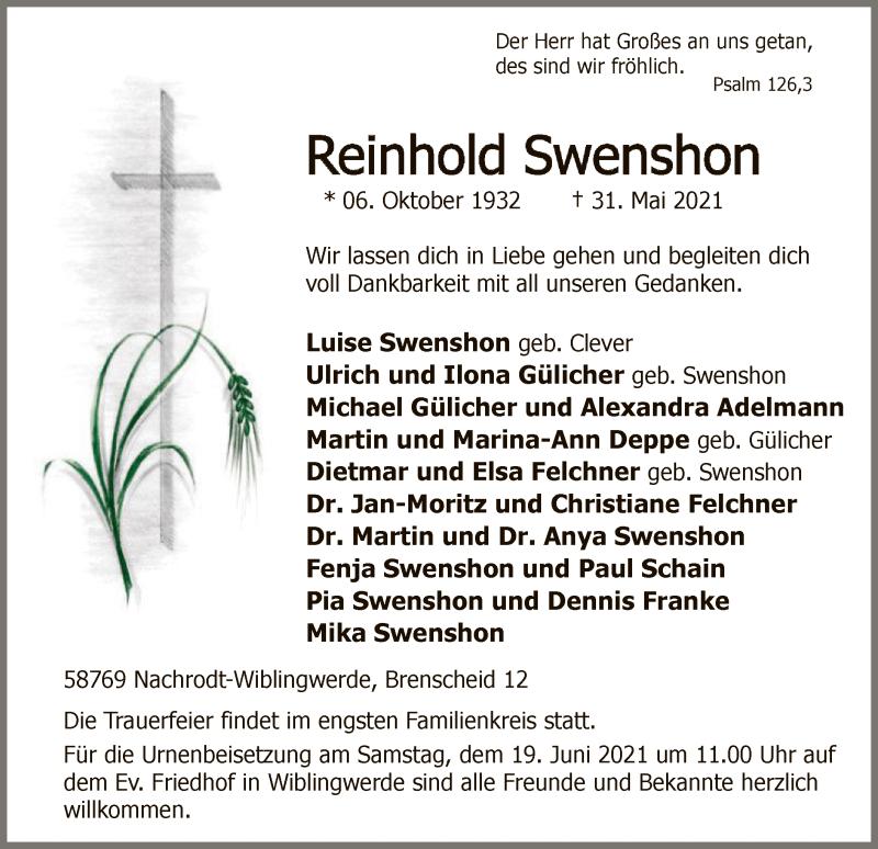Reinhold Swenshon