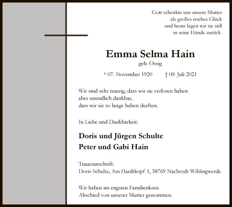 Emma Hain